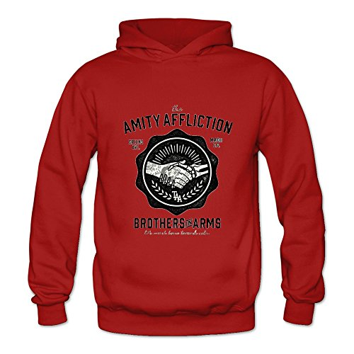(Women's The Amity Affliction Punk Hoodies Sweatshirt Size M US Red)