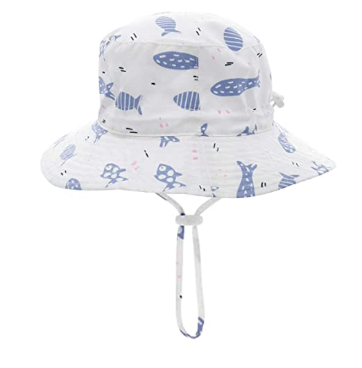 341604e4 Baby Sun Hat Toddler Kids Dinosaur Hat Sun Protection Bucket with Chin Strap  (2-