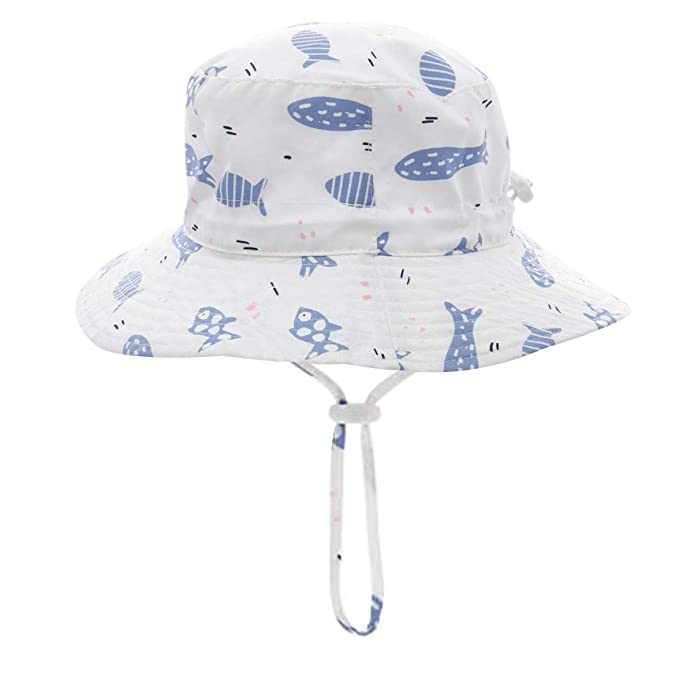 01b865f2 Baby Sun Hat Toddler Kids Dinosaur Hat Sun Protection Bucket with Chin  Strap (2-