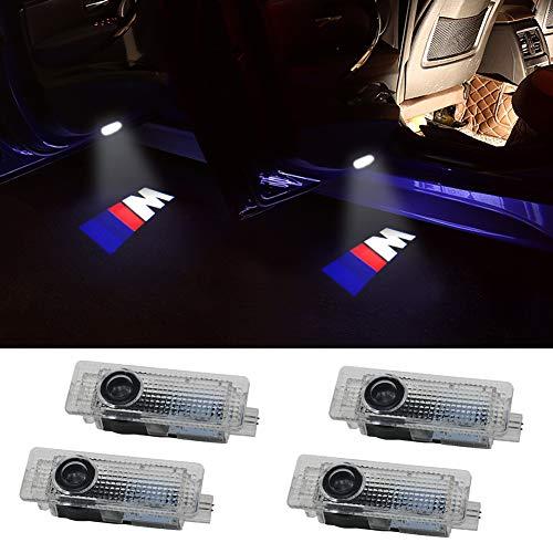 Grolish 4-Pack Car Door LED Logo Projector Door Step Courtesy Light for BMW M ()