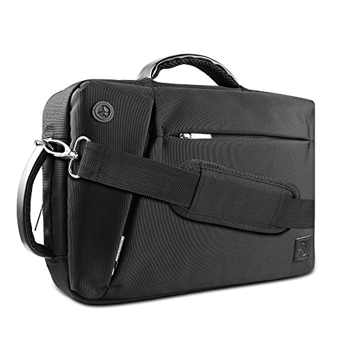 VanGoddy Premium Multiple Design Laptop Bag Briefcase Backpack for Apple Mackbook / MacBook Air / Pro / Dell XPS / ASUS ROG Series 12.2 13.3 14 15.6 inch OS X / Windows Chromebook Ink