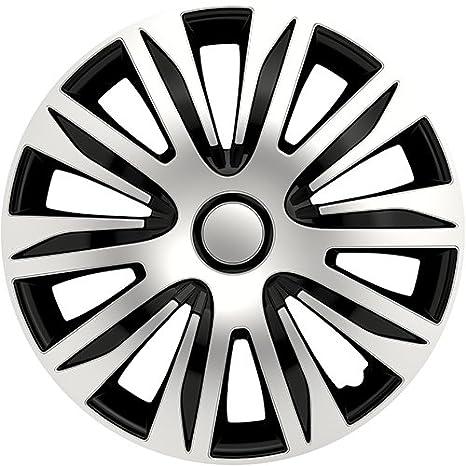 Autostyle PP 5206 Nardo Set de tapacubos, 16 pulgadas, color plata y negro: Amazon.es: Coche y moto