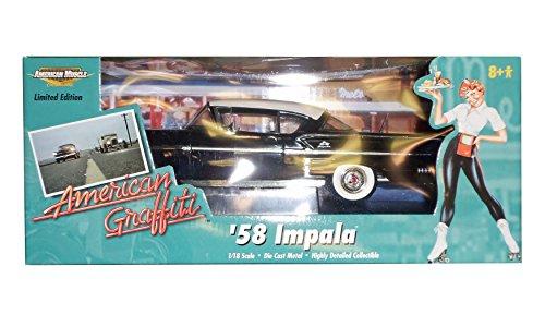 Ertl 36604 American Graffiti '58 Impala - Black - 1:18 Sc...