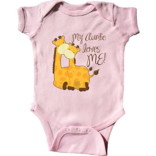 inktastic - My Auntie Loves me! Infant Creeper 6 Months Pink - Baby Infant Creeper