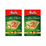 melitta - Cone Coffee Filter #2 - Natural Brown 100 Count (2 Pack)