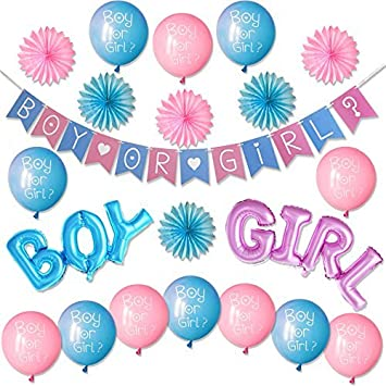 amazon com gender reveal party supplies kit boy or girl baby
