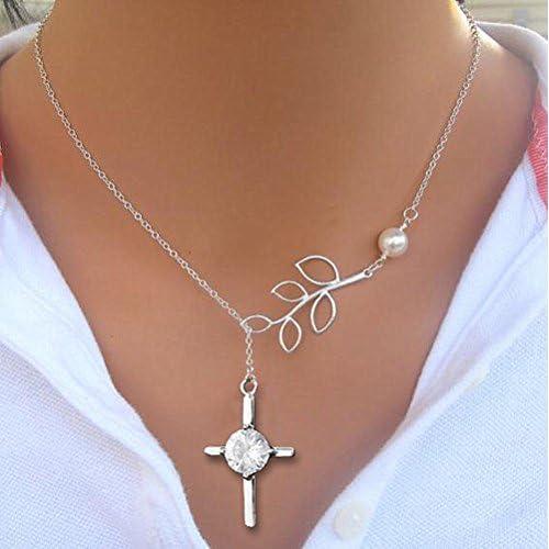 e0649dbafaee SLHP Cruz colgante collar simple cadena de Pascua cruz señores Oración  Collar Hombres Mujeres plata 60