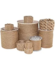 ProManila Rope (1/4 inch - 2 inch) - SGT KNOTS - UnManila Tan Twisted 3 Strand Polypropylene Cord - Moisture, UV, and Chemical Resistant - Marine, Projects, Tie Downs, Indoor/Outdoor (10 ft - 600 ft)