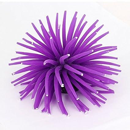 Amazon.com : eDealMax De silicona acuario Artificial acuática Coral Planta de decoración 9 cm de Alto púrpura : Pet Supplies
