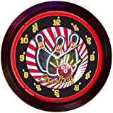 Neonetics Bar and Game Room Bowling Neon Wall Clock, 15-Inch