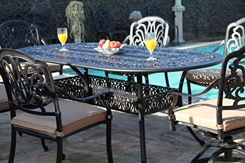 GrandPatioFurniture.com CBM Patio Elisabeth Collection Cast Aluminum 7 Piece Dining Set