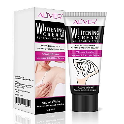 Natural Underarm Whitening Cream, Armpit Lightening and Brightening Deodorant Cream, Body Creams, Underarm Repair Whitening Cream Between Legs Knees Sensitive Areas
