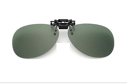 MXH Clip Espejo polarizado Gafas de Sol Clip-Tipo miopía ...