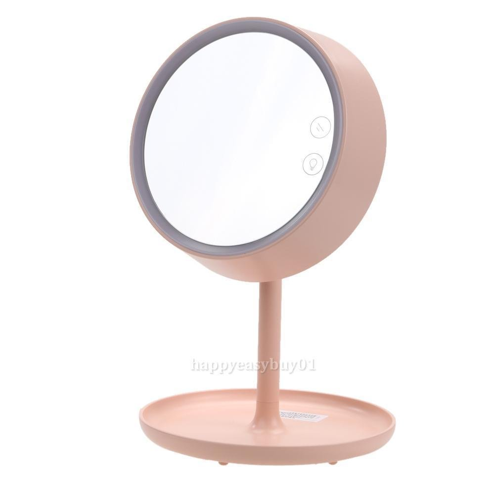 JUJU MALL-3-in-1 USB Charging LED Cosmetic Makeup Mirror storage Table Lamp for Bedroom