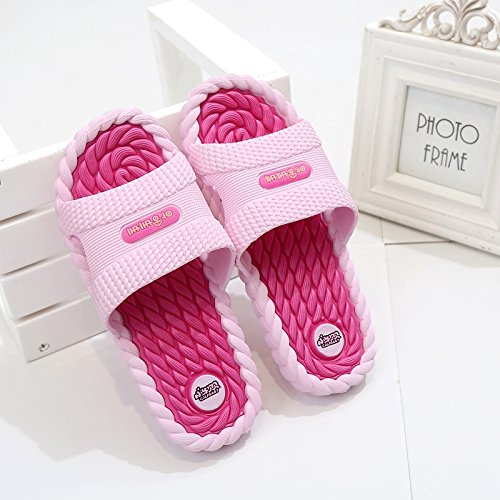 Home Base Bathroom Anti fankou Soft Red Slippers Summer Bath Men Interior Slippers Cool Male Slip The Home Massage BqqtPzI