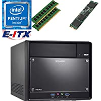 Shuttle SH110R4 Intel Pentium G4600 (Kaby Lake) XPC Cube System , 16GB Dual Channel DDR4, 480GB M.2 SSD, DVD RW, WiFi, Bluetooth, Pre-Assembled and Tested by E-ITX