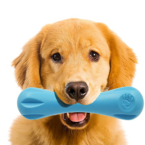 Indestructible Dog Toys Tough Rubber Bone Toys Chew Toys for Aggressive Chewers