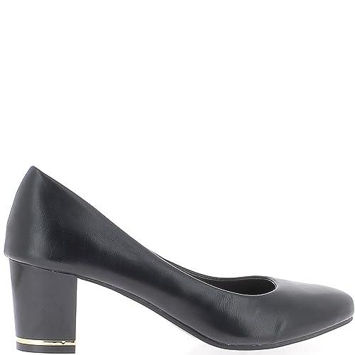 Zapatos negros formales Chaussmoi para mujer GL92V93UMB