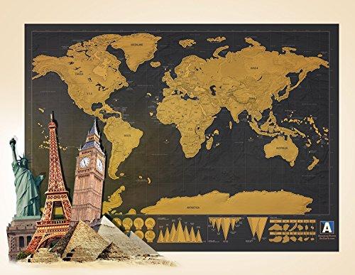 Amazing Places' World Map | Travel & Rub-off (Travelers World Map)