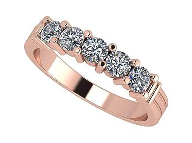 df72d1b4d7c7b6 NANA Simulated Diamond Ring, Round Swarovski Zirconia Sterling Silver or 10k  Gold Anniversary Ring, Simulated Diamond wedding band, Wedding Engagement  Band