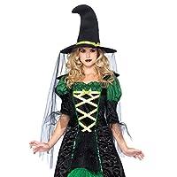 Disfraz de bruja Storybook para mujer de Leg Avenue, negro /verde, pequeño /mediano