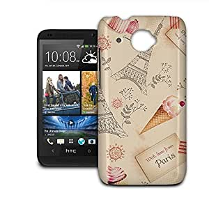 Phone Case For HTC Desire 601 - Love From Paris Glossy Back