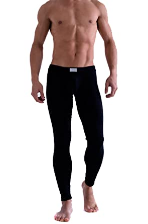 PanDaDa Mens Underpants Thermal Low Rise Long Johns Pants ...