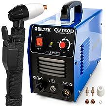 """Biltek 50Amp Air Plasma Cutter, 1/2"""" Inch Cut 110V/220V Input CUT50D DC Inverter Dual Voltage with Pre-Installed 110V US Plug, Portable & Easy Quick Setup Metal Cutter"""