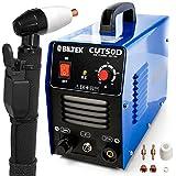 Biltek 50Amp Air Plasma Cutter, 1/2' Inch Cut 110V/220V Input CUT50D DC Inverter Dual Voltage with Pre-Installed 110V US Plug, Portable & Easy Quick Setup Metal Cutter