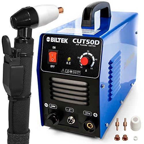 "Biltek 50Amp Air Plasma Cutter, 1/2"" Inch Cut 110V/220V Inpu"
