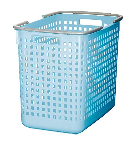 Like-it SCB-5 Plastic Laundry Basket, 15.47-Inch H by 12.20-Inch W by 18.70-Inch D, Blue by Like-It