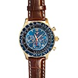 Stauer Men's Chronograph Flyboy Blue Watch with...