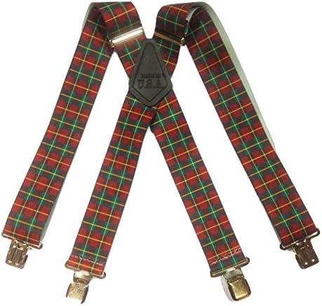 Escocesa para Hombre Talla única Brimarc diseño de la bandera de hombre para trabajos cuadros de tirantes 5, 08 cm extra anchos para hombre: Amazon.es: Ropa y accesorios