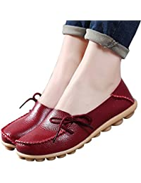 Women's Leather Loafers Wild Driving Casual Flats Shoes