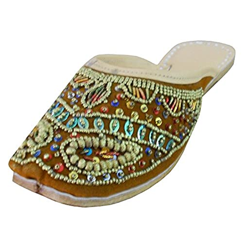 eef0ad08f19 hot sale Kalra Creations Women s Traditional Indian Slippers Velvet With  Sequence Work Ethnic Flats