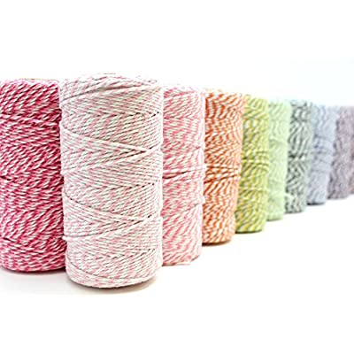 Just Artifacts ECO Bakers Twine 110-Yards 12Ply Striped Adobe - Decorative Bakers Twine for DIY Crafts and Gift Wrapping : Office Products