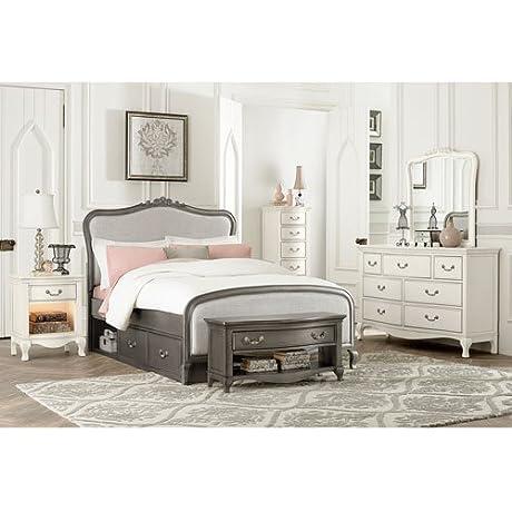 NE Kids Kensington Katherine Full Upholstered Storage Bed In Silver
