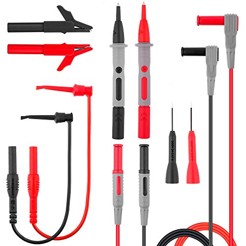 Test Probe Set - Electronic Test Leads Kit, Digital Multimeter Leads, Electronic Professional Diagnostic Set including Alligator Clips,Test Extension, Test Probe,Plunger Mini-hooks Free Organizer by MayBest