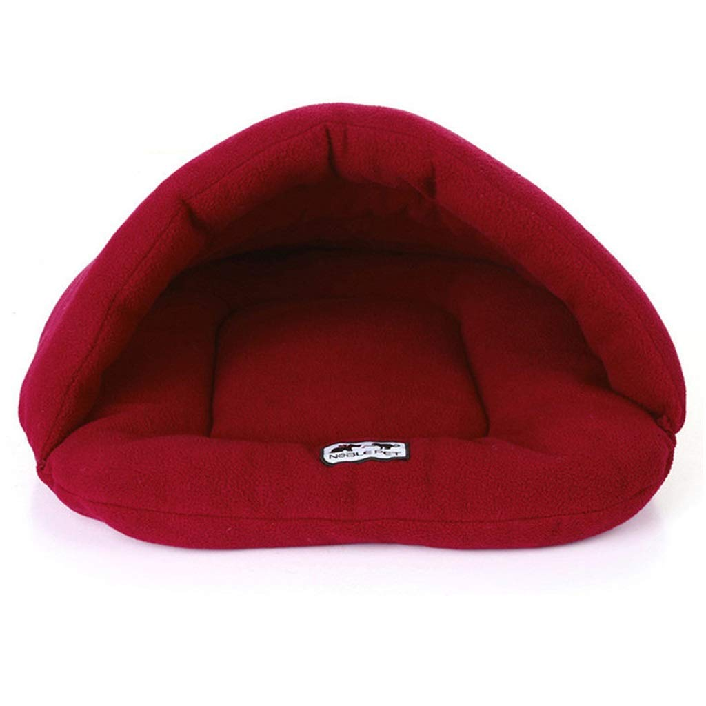 Wine Red L 6858cm Wine Red L 6858cm LZRZBH Soft Warm Pet Dog Cat Bed House Plush Cozy Nest,Puppy Pet Sleeping Bed (XS S M L) (color   Wine Red, Size   L 68  58cm)