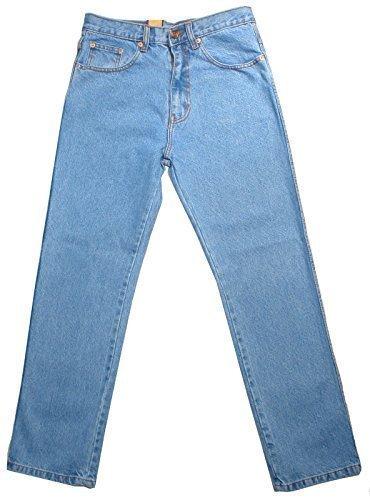 Aztec - Herren Männer Starke Regulärer Schnitt 100% Baumwolle Jeans - 34W x Kurz, Ausgebleichte Waschung