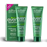 Alba BotanicaTM Even Advanced Natural Moisturizer Sea Moss SPF 15 -- 2 fl oz (Pack of 2)