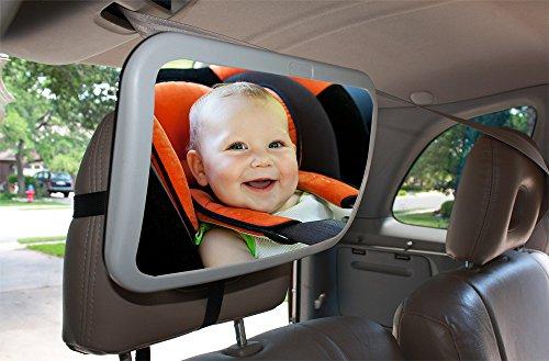 Back Seat Mirror: Mr. Peekatmee Backseat Baby Safety Mirror by Mr. Peekatmee (Image #5)