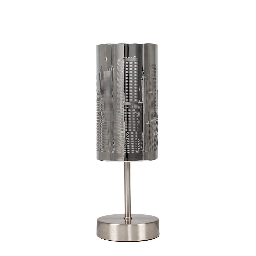 Modern Chrome Touch Table Lamp With New York Skyline Shade Part 93