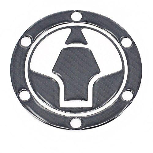JFG RACING Real Carbon Fiber Gas Cap Cover Pad Fuel Tank Sticker Decal For Kawasaki Ninja 250R 300 EX250 EX300