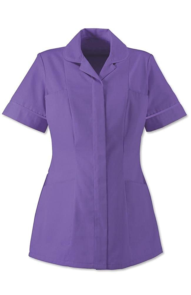 Alexandra Traditional Ladies Women Nursing Tunics NHS Health Medical Care (12, Purple/Purple)