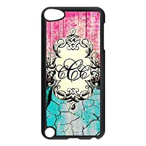 Monogrammed Protective Hard PC Back Fits Cover Case for iPod Touch 5, 5G (5th Generation)