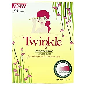 36 Pieces Twinkle (NOT Tinkle) Eyebrow Shaver Razor Bikini Trimmer Shaper Sensitive & Delicate Skin