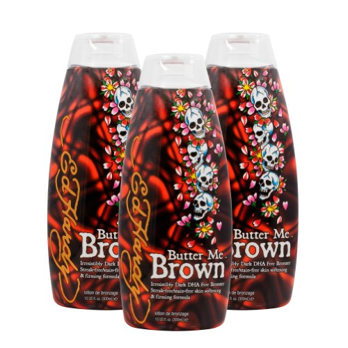 3 Ed Hardy Butter Me Brown Tanning DHA & Streak Free Bronzin