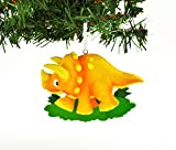 PERSONALIZED CHRISTMAS ORNAMENT KIT ORANGE TRICERATOPS DINOSAUR KIT