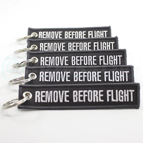 Rotary13B1 Remove Before Flight Key Chain - Dark Gray/White 5pcs (Remove Before Flight Clothes)